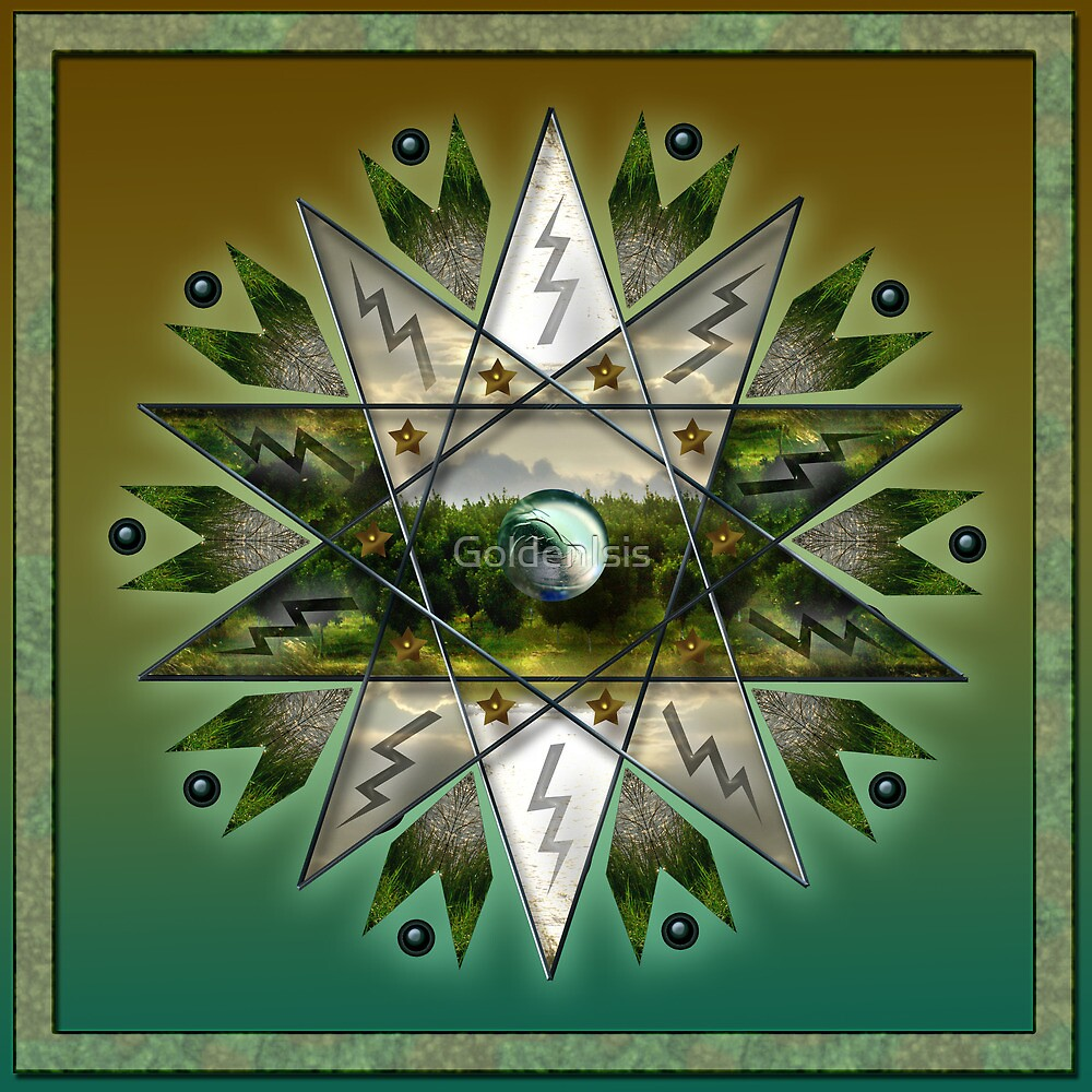 Earth Star Chakra by GoldenIsis