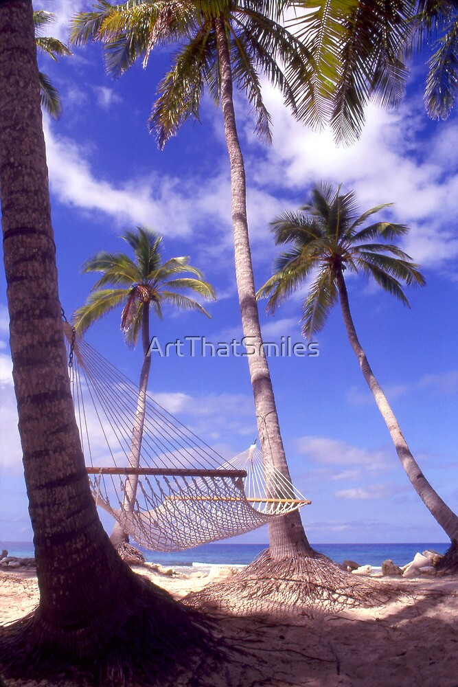 """Caribbean Bliss"" - hammock in the tropics by ArtThatSmiles"