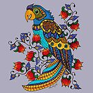 Parrot in Flowers by Kayleigh Walmsley
