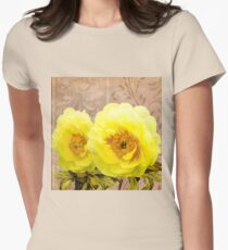 Butter yellow Peonies, floral art T-Shirt