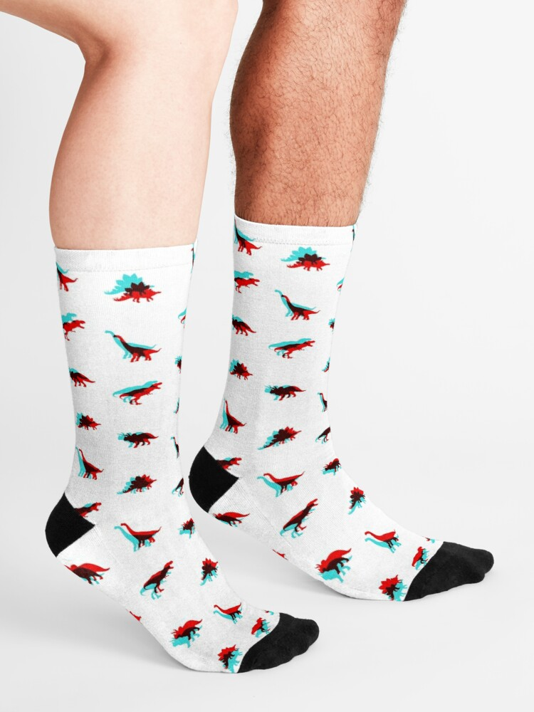 Alternate view of Dinosaur 3D Socks