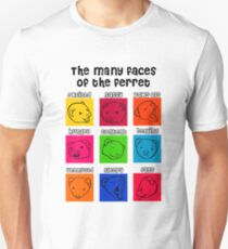 The Many Faces of the Ferret Unisex T-Shirt