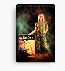 :::We Can Do It!::: Canvas Print