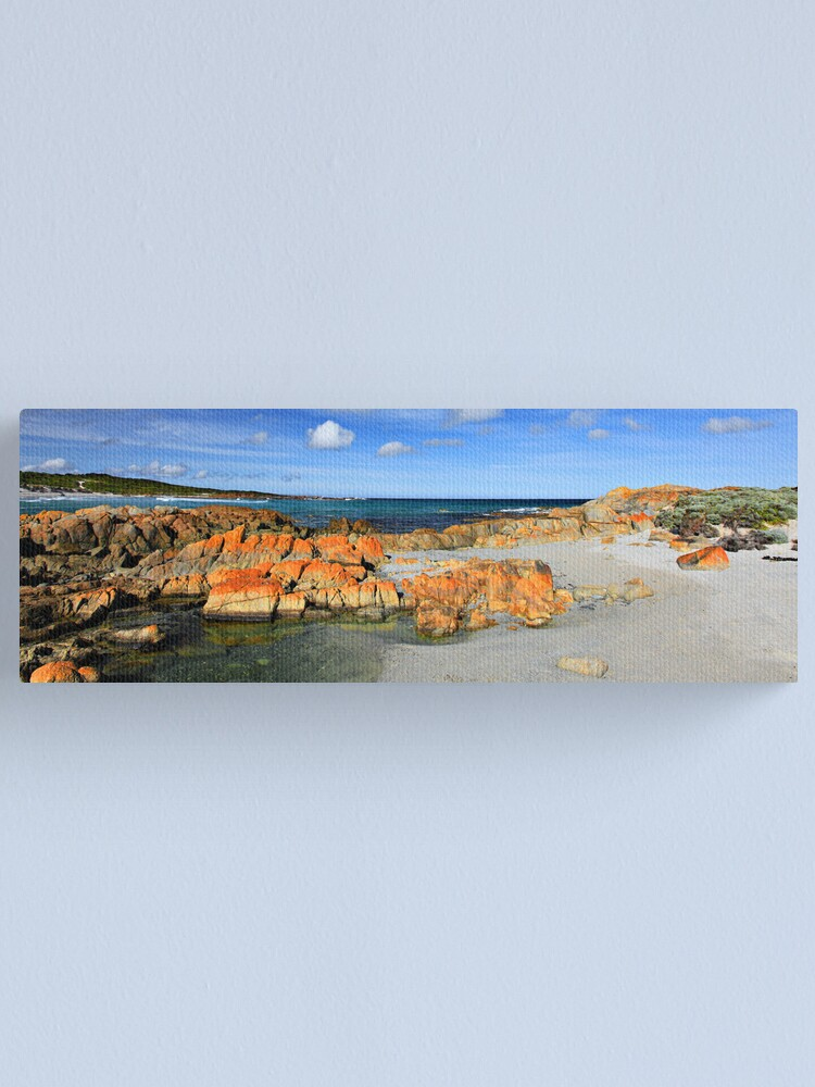 Alternate view of British Admiral Beach - King Island Canvas Print