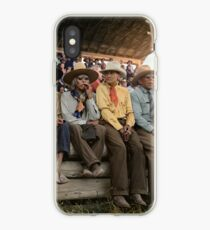 Crow Native Americans watching the rodeo at Crow fair in Montana, 1941 iPhone Case