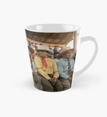 Crow Native Americans watching the rodeo at Crow fair in Montana, 1941 Tall Mug