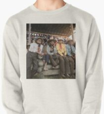 Crow Native Americans watching the rodeo at Crow fair in Montana, 1941 Pullover Sweatshirt