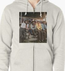 Crow Native Americans watching the rodeo at Crow fair in Montana, 1941 Zipped Hoodie