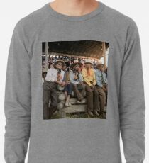 Crow Native Americans watching the rodeo at Crow fair in Montana, 1941 Lightweight Sweatshirt