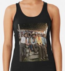 Crow Native Americans watching the rodeo at Crow fair in Montana, 1941 Racerback Tank Top