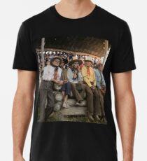 Crow Native Americans watching the rodeo at Crow fair in Montana, 1941 Premium T-Shirt