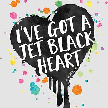Jet Black Heart (paint splattered) by afiretami