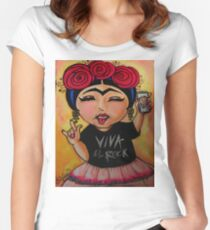 Frida Rocks / Frida Roquera Women's Fitted Scoop T-Shirt