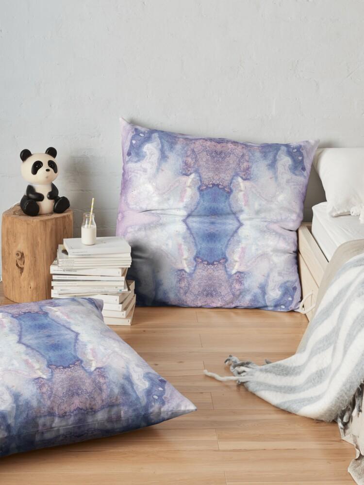 Alternate view of Purple Amethyst Floor Pillow