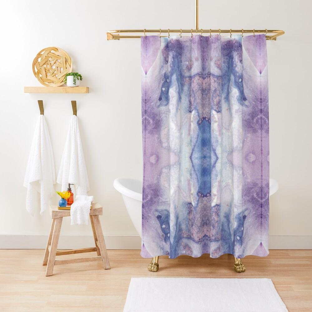 Purple Amethyst Shower Curtain