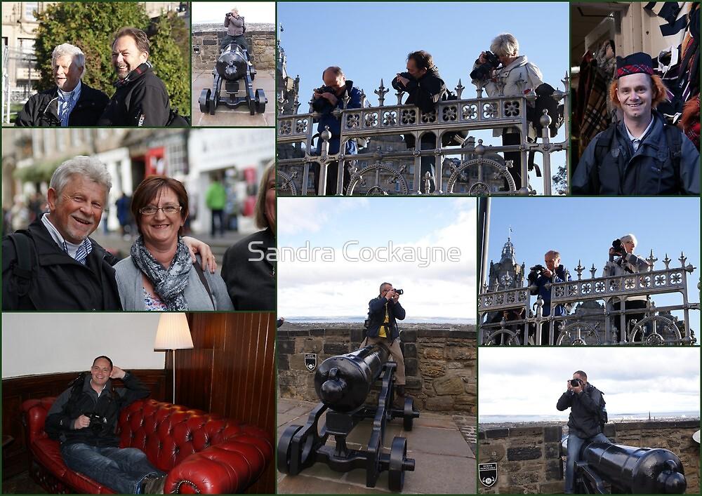 Collage of the Guys & Gals - Edinburgh Bubblemeet by Sandra Cockayne