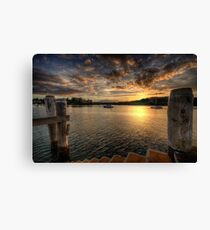 Sitting On A Dock  on the Bay - Newport, Sydney - The HDR Experience Canvas Print