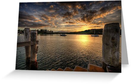 Sitting On A Dock  on the Bay - Newport, Sydney - The HDR Experience by Philip Johnson