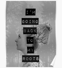 Roots (Black/White) Poster