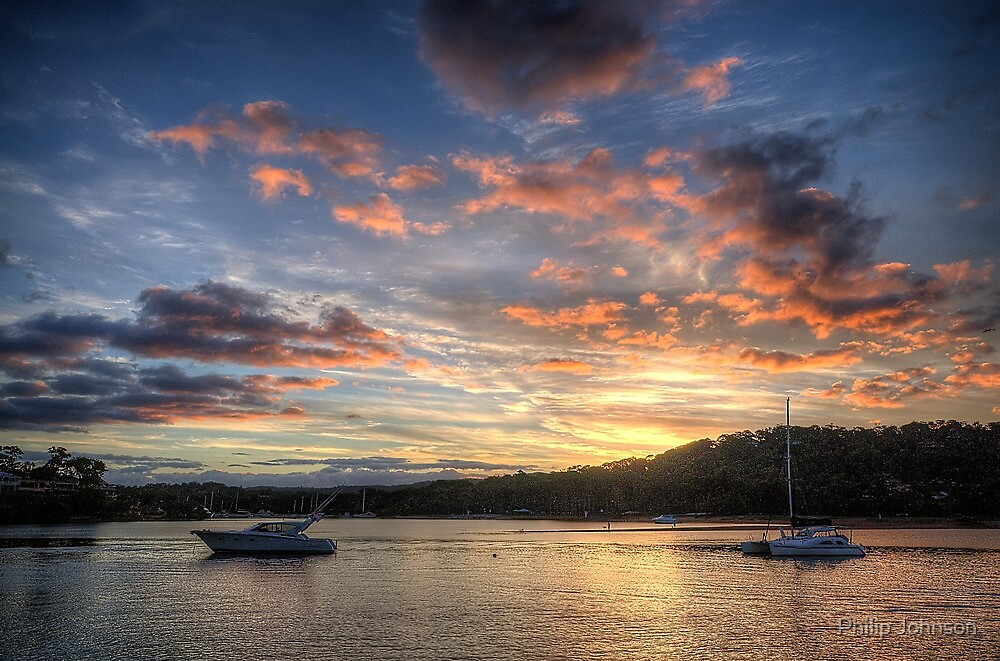 Sunset Blessings - Newport, Sydney - The HDR Experience by Philip Johnson