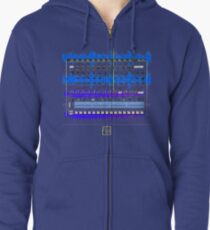 """I Edit Audio""© Zipped Hoodie"