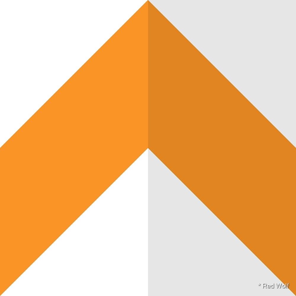Geometric Pattern: Chevron: Light/Orange by * Red Wolf