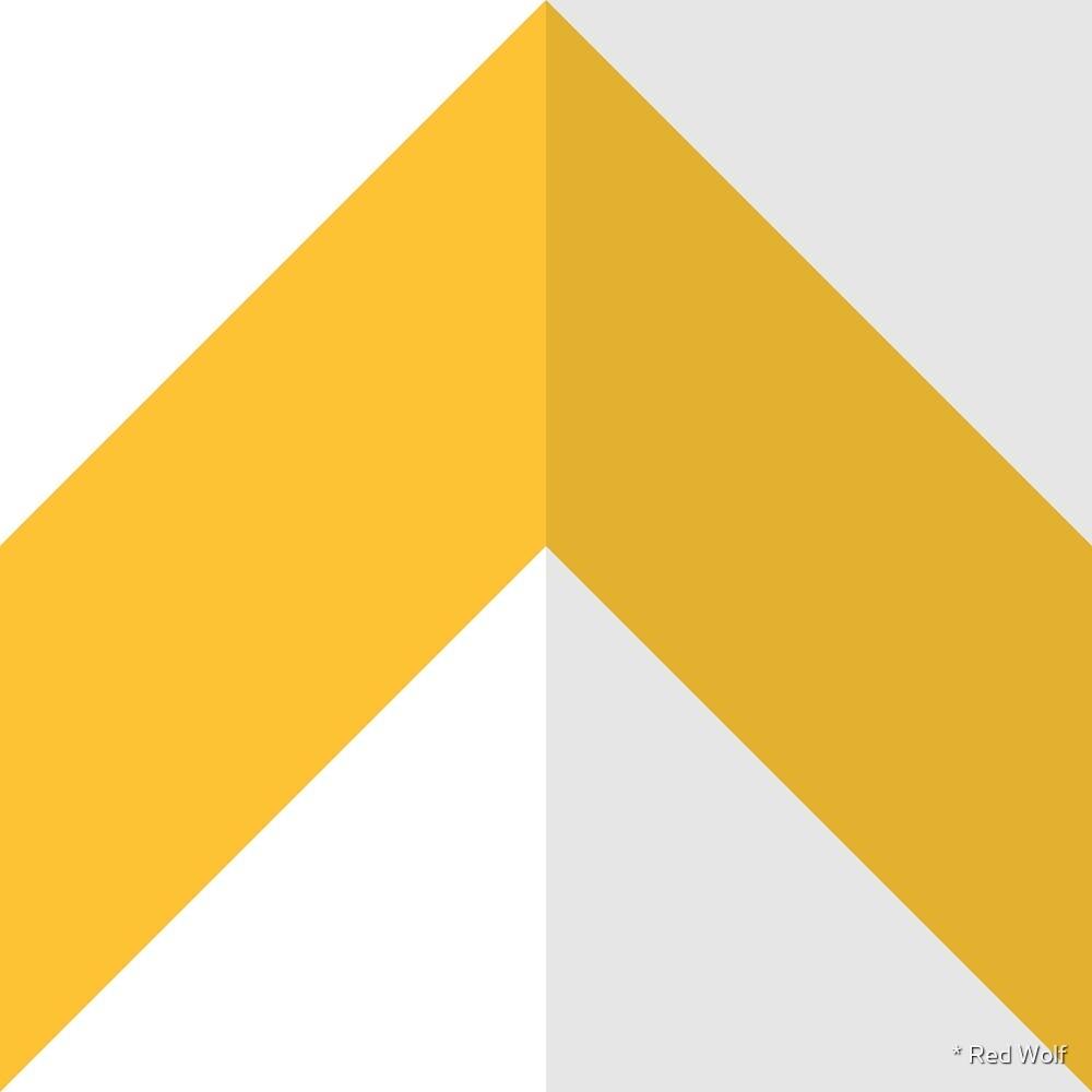 Geometric Pattern: Chevron: Light/Yellow by * Red Wolf