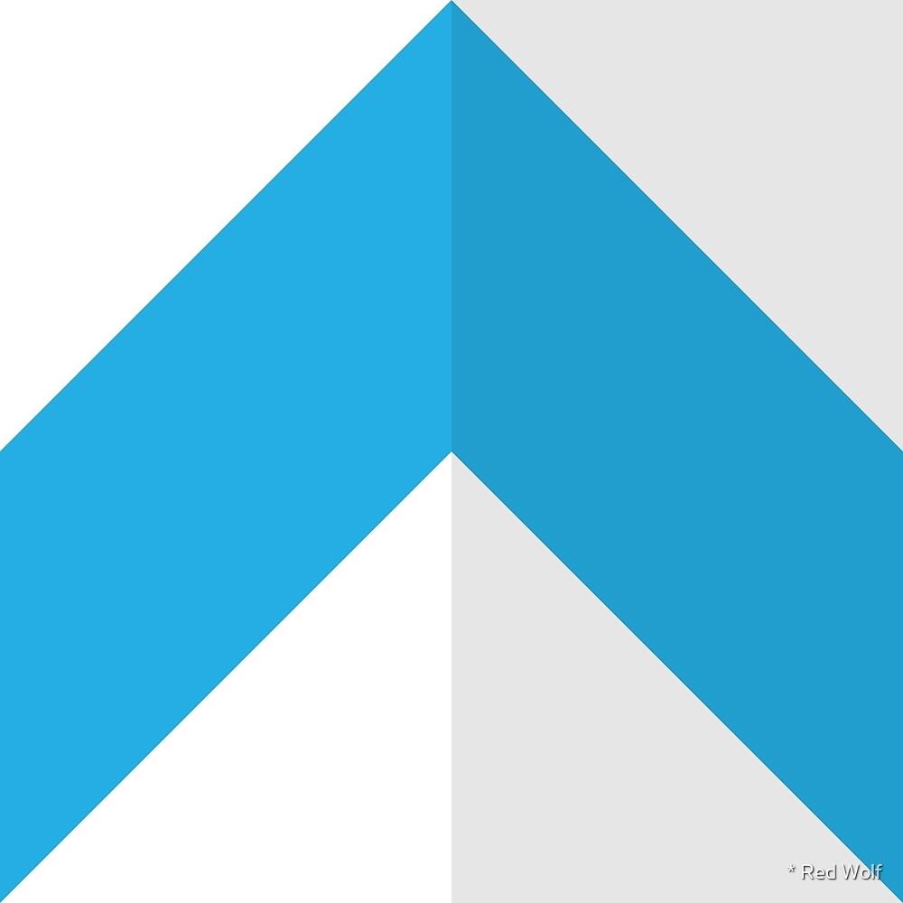 Geometric Pattern: Chevron: Light/Blue by * Red Wolf