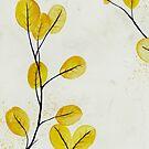 Golden Birch Leaves by Sybille Sterk