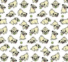 Playful Pugs by Leslie Evans