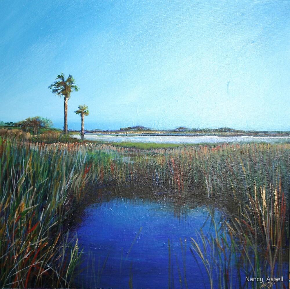 Guana Blue III by Nancy  Asbell