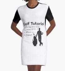 Golf Tutorial Graphic T-Shirt Dress