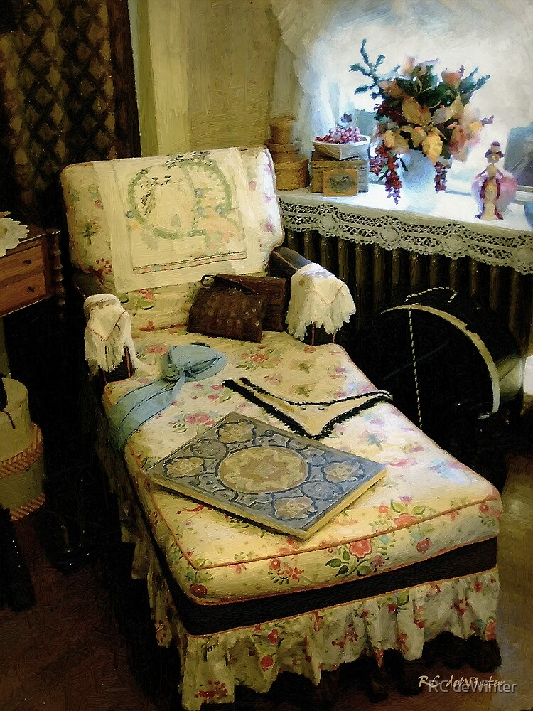 Mother's Chintz Chaise in the Corner by RC deWinter