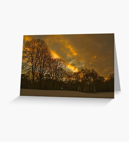 Sunsetting at Elvaston Castle Grounds Greeting Card