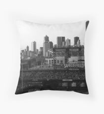 Safeco Field Black and White Throw Pillow