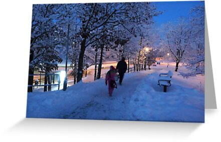 On Their Way Home One Winter Afternoon by HELUA