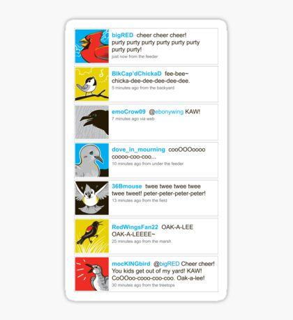 Birds' tweets Sticker