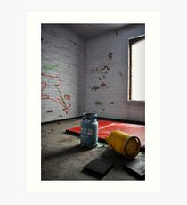 Abandoned- gas canisters Art Print