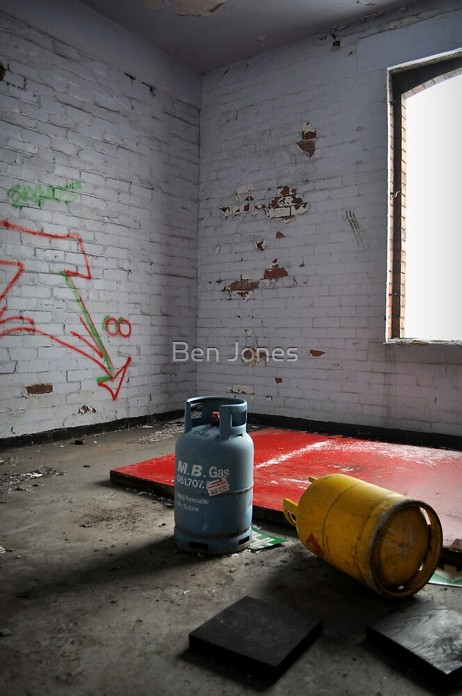 Abandoned- gas canisters by Ben Jones