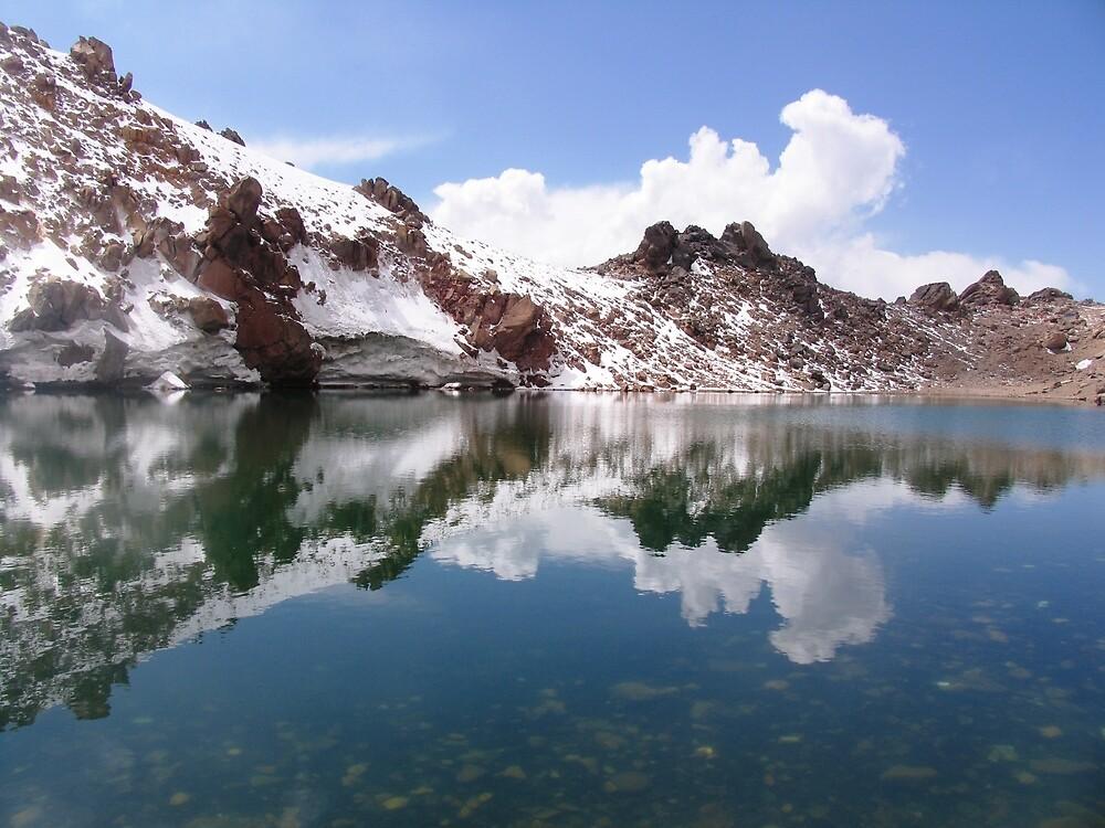 Sultan Sabalan - Sabalan's summit lake, Iran by damghani