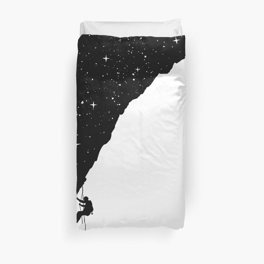 Night climbing Duvet Cover