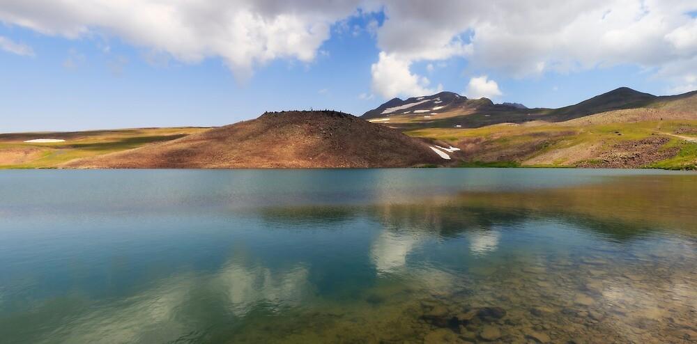 Lake Kari at mount Aragats in Armenia by Andrey Vostrikov