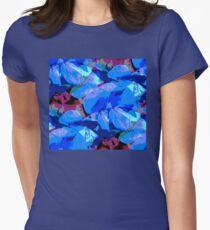 Blue Geranium Women's Fitted T-Shirt