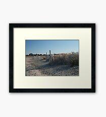 Fences at Narragansett Beach Framed Print