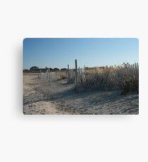 Fences at Narragansett Beach Canvas Print