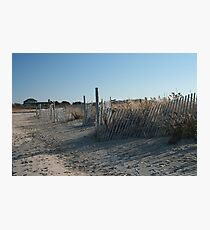 Fences at Narragansett Beach Photographic Print