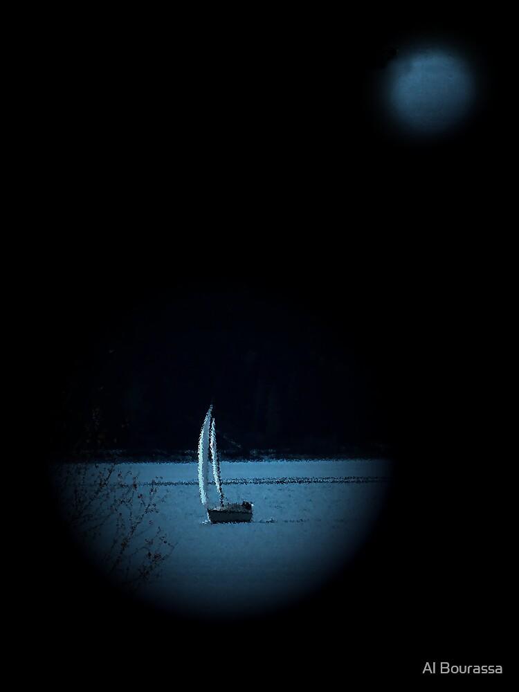 Moonlight Sail by Al Bourassa