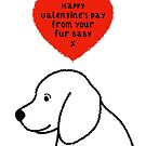Dog Fur Baby Valentines Greeting by Adam Regester