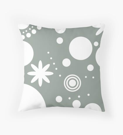 Mpattern Green/White Throw Pillow