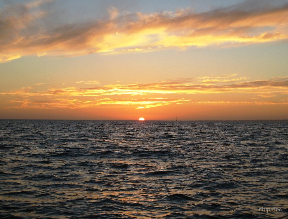 Late November Sunset on the Great South Bay by chipster